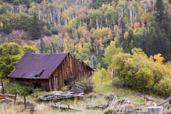 Rustic Colorado Barn. A rustic barn in the Rocky Mountains of Colorado Royalty Free Stock Photo