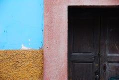 Rustic colorful door Royalty Free Stock Image