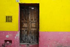 Rustic colorful door Royalty Free Stock Photography