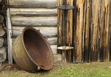 Rustic cooking pot Stock Image