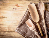 Rustic cooking utensils Royalty Free Stock Photos