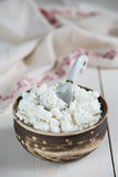 Rustic cottage cheese Royalty Free Stock Images