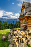 Rustic cottage in the mountains Royalty Free Stock Image