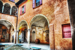 Rustic courtyard in hdr Stock Photos