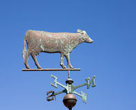 Rustic Cow Weather Vane Royalty Free Stock Photo