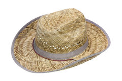 Rustic cowboy hat made of straw Royalty Free Stock Photos