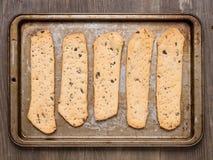 Rustic crispy italian flatbread Stock Images