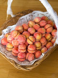 Rustic Croatian peach cakes in basket Royalty Free Stock Photography