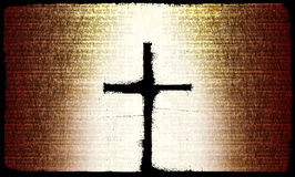 Rustic Cross. This is a rustic Christian cross on a textured background stock illustration