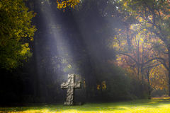 Rustic cross cemetery Royalty Free Stock Photography