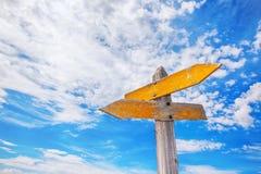 Rustic Crossroads Sign Stock Image