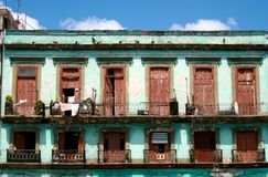 Rustic Cuban apartments Royalty Free Stock Photo