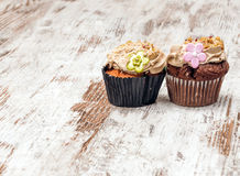 Rustic cupcakes Royalty Free Stock Photo