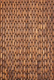 Rustic curtain. Made ​​of pieces of wood Royalty Free Stock Images
