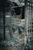 Rustic Dark old wooden shed royalty free stock photography
