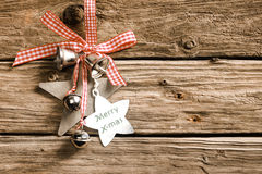 Rustic decorative Christmas background Stock Photo