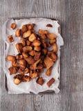 Rustic deep fried crispy pork rind Royalty Free Stock Photo