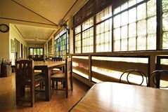 Rustic Dining Hall Stock Image