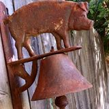 Rustic Dinner Bell Stock Image