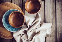 Rustic dishes Royalty Free Stock Image