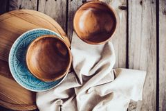 Rustic dishes Stock Photo