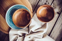 Rustic dishes Stock Image