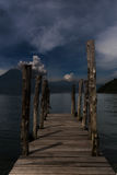 Rustic Dock on the Lake royalty free stock photos