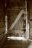 Rustic door. In monochrome in a wood chalet Stock Image