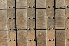 Rustic door close-up, Imperial Palace, Japan Royalty Free Stock Photos
