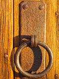 Rustic Door handle Stock Photo