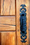 Rustic Door and Handle Lever Royalty Free Stock Images