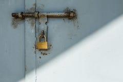 Rustic door lock Royalty Free Stock Image