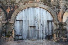 Rustic door at Old San Juan in Puerto Rico royalty free stock photos