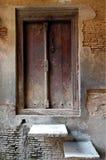 Rustic Door Peeling Plaster Wall Royalty Free Stock Image