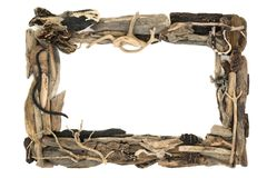 Rustic Driftwood Frame stock photo