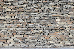 Rustic Dry Stone Wall. With back edge pointing Royalty Free Stock Image
