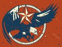Rustic Eagle Emblem Royalty Free Stock Images