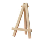 Rustic Easel Style Wooden Tripod isolated on white Stock Image