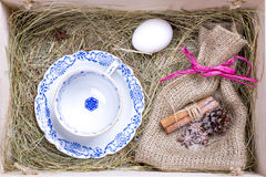 Rustic easter box Stock Photography