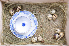 Rustic easter box Stock Image