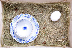 Rustic easter box Royalty Free Stock Image