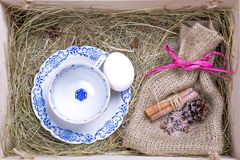 Rustic easter box Stock Photos