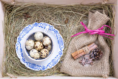 Rustic easter box Royalty Free Stock Photography