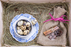 Rustic easter box Royalty Free Stock Images