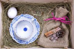 Rustic easter box Stock Images
