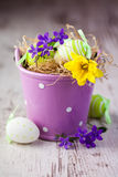 Rustic easter decoration Stock Photo