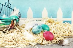 Rustic Easter Eggs Royalty Free Stock Images