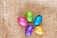 Rustic Easter Eggs Royalty Free Stock Photography