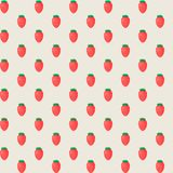 Rustic elegant seamless pattern with strawberries. Vector illustration. Stock Photo
