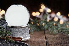 Rustic Empty Silver Snow Globe Stock Images